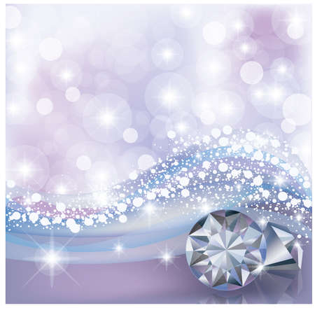 Winter card with diamonds, vector illustration Illustration
