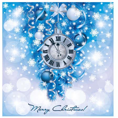 Elegant nieuw jaar achtergrond, vector illustratie Stock Illustratie