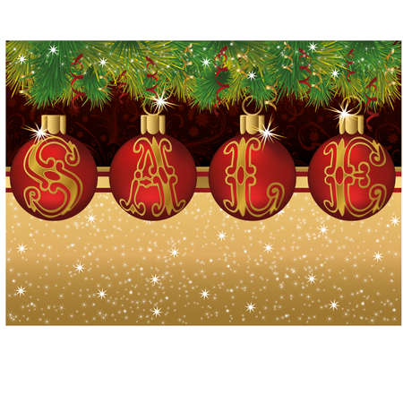 Christmas sale banner, vector illustration Vector