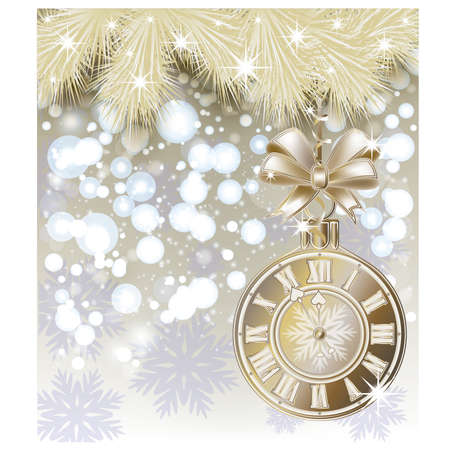 cover background time: Merry Christmas elegant card, vector illustration