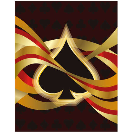Poker spade card, vector illustration Vector