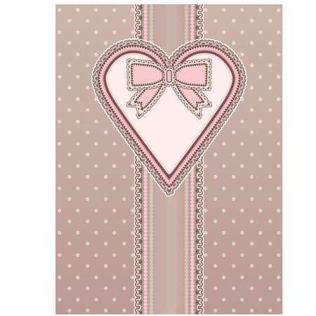 Valentines day invitation card en vintage style, vector Vector