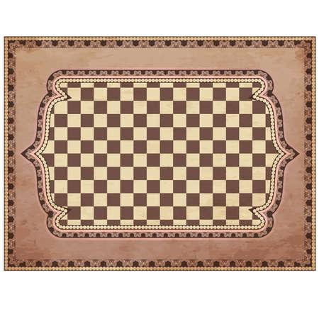 Vintage chessboard card, vector illustration Stock Vector - 25366066