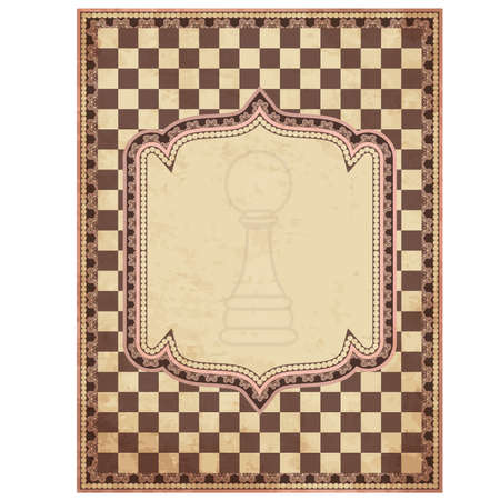 Vintage chess card, vector illustration  Vector