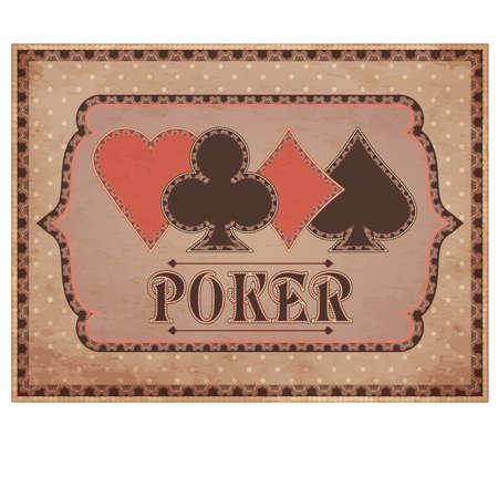Casino sfondo Vintage, illustrazione vettoriale