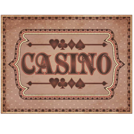 Vintage casino banner, vector illustration Vector