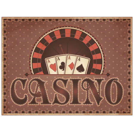 Vintage Casino invitation card, vector illustration Vector