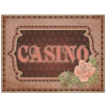 Vintage casino background, vector illustration Vector