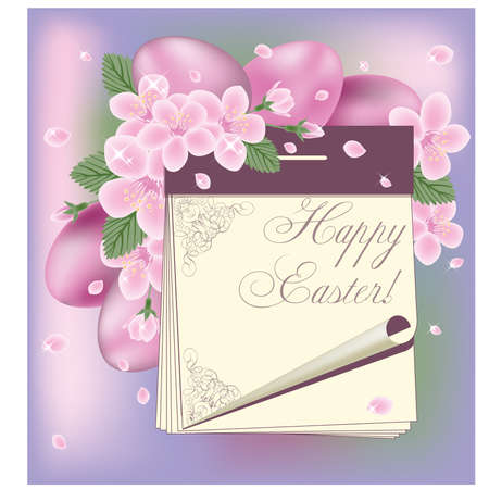 Easter spring calendar, vector illustration Vector