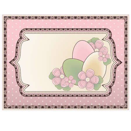 Easter background in vintage style, vector illustration Vector