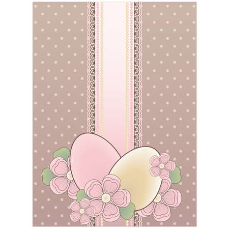 Easter vintage banner, vector illustration Vector