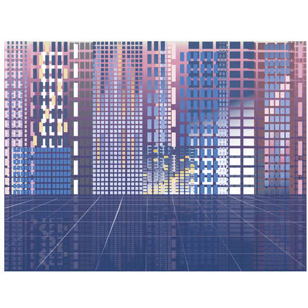 midtown: Abstract modern city, vector illustration