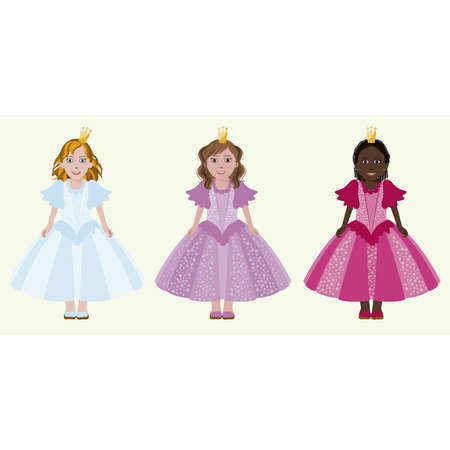 latin americans: Three little princess, vector illustration Illustration
