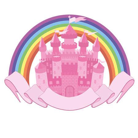 citadel: Fairy Tale magic castle and rainbow