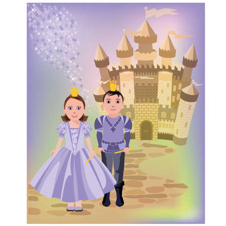cinderella: Magic castle and  princess with prince