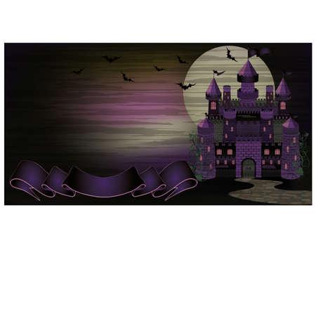 transylvania: Dark Witch castle banner, illustration