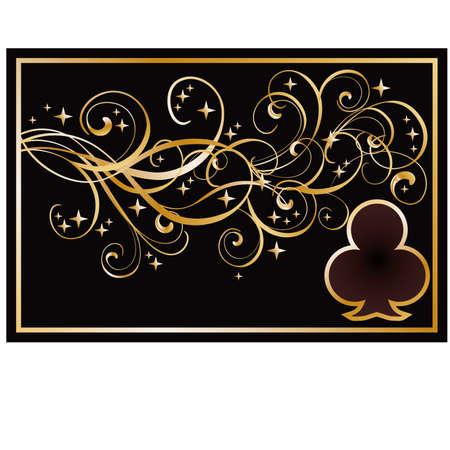 Club poker banner, illustration Vector