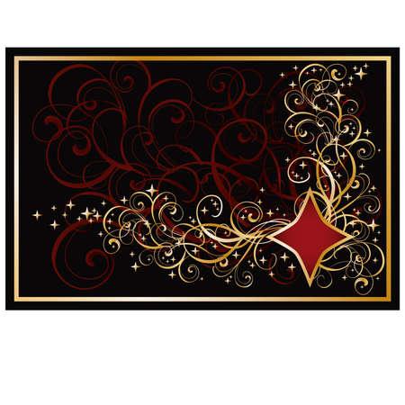hold em: Casino diamond golden card, illustration