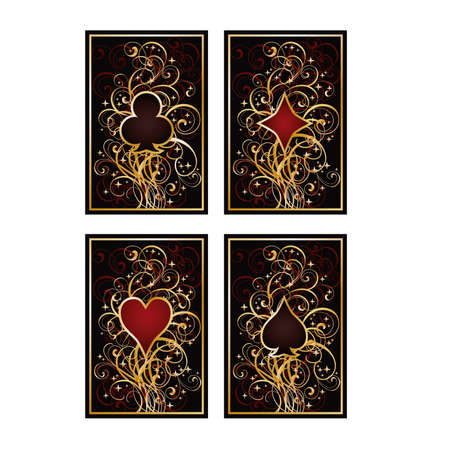 Set poker cards, vector illustration  Illustration