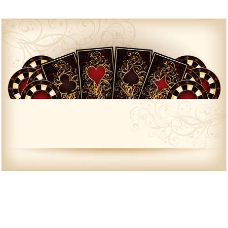 Casino wallpaper with poker elements Vector