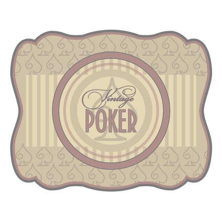 Vintage poker spades label, vector illustration Vector