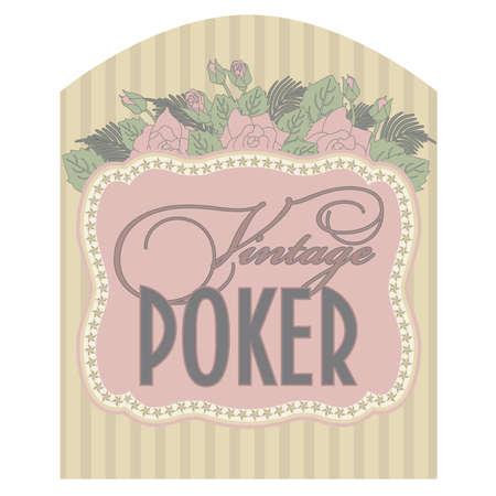 Casino vintage poker card, vector illustration Vector