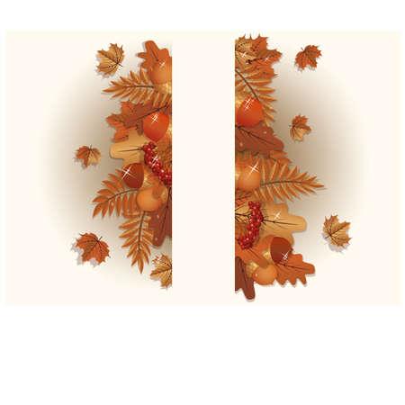 Autumn background, vector illustration  Vector