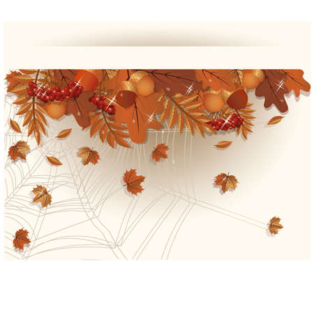 Autumn seasonal banner, vector illustration Vector