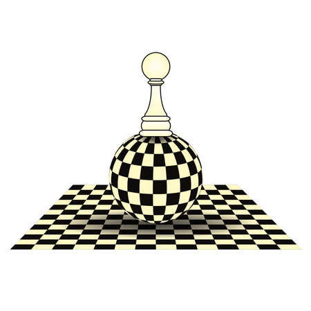 Chess pawn card, vector illustration