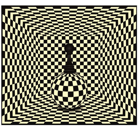 tactical: Chess pawn background, vector illustration Illustration
