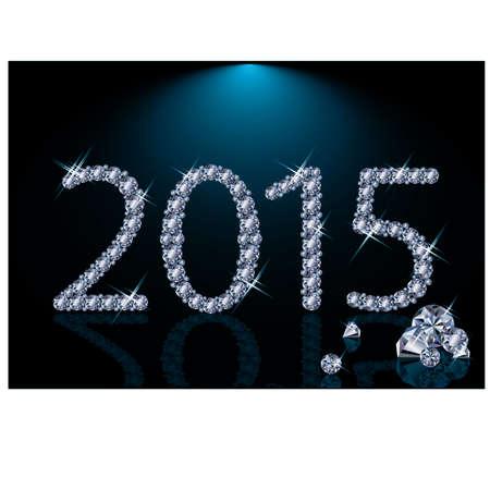 New 2015 diamond year, illustration Vector