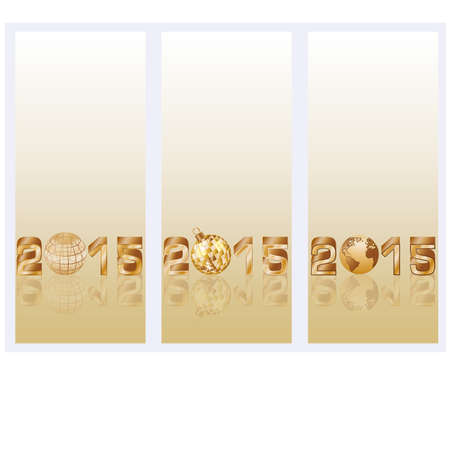 Happy New 2015 Year banners, illustration Vector