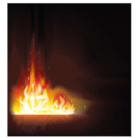 resplandor: Fondo del fuego ilustración llama