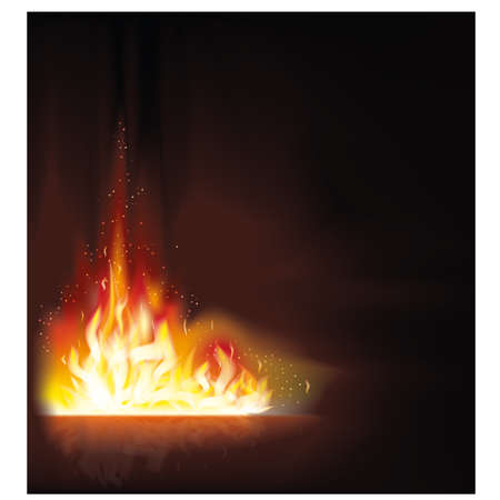 Fire flame background illustration