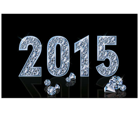 Diamond new 2015 year, vector illustration Vector
