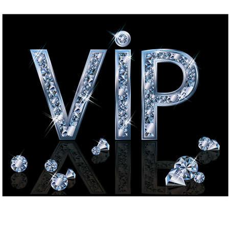 Diamond VIP invitation card, vector illustration Vector