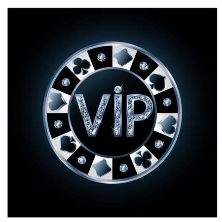 clubs diamonds: Diamond VIP poker chip