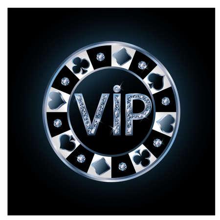 coeur en diamant: VIP Diamant jeton de poker