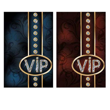 Two diamond VIP cards, illustration Illusztráció