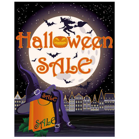 shoe sale: Happy Halloween sale shopping card
