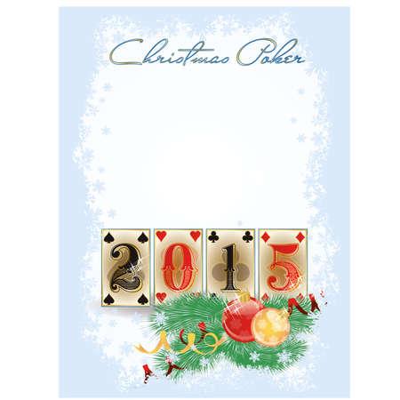 New 2015 year poker cards, vector illustration Vector