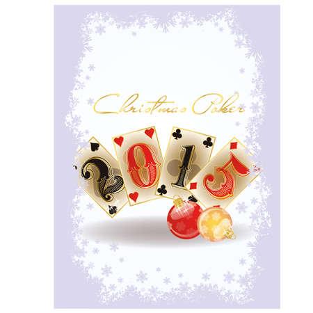 Happy Christmas casino card, vector illustration Vector