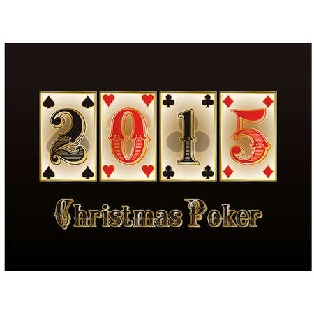 Christmas Poker.  Vector