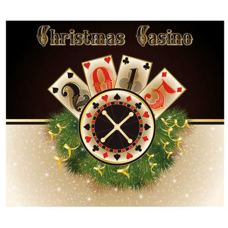 Christmas casino. Happy 2015 year background vector Vector