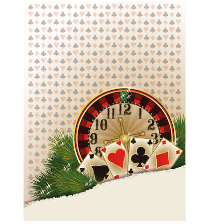 Merry Christmas Casino background Vector