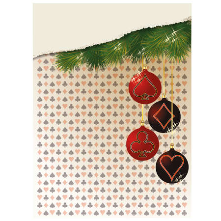 Merry Christmas and New year casino background, vector illustration Vector