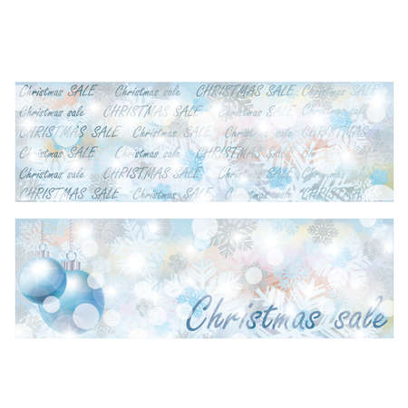 scrap trade: Christmas sale banners, vector illustration