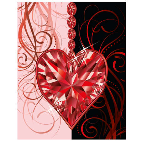 Wedding valentines day greeting card Vector