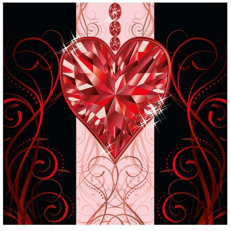 Valentines day invitation card Vector