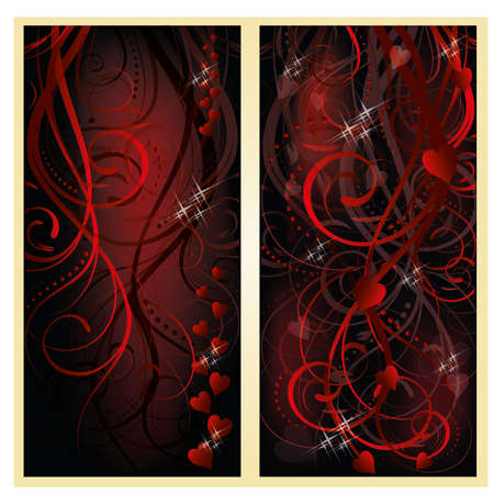Love hearts banners, vector illustration Vector